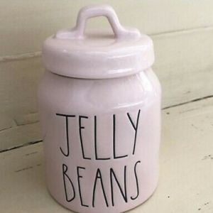 Rae dunn pink jelly beans cannister